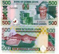 SIERRA LEONE billet neuf de 500 LEONES Pick 23c KAI LONDO CHALUTIERS PECHE