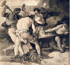 Schmiede Kunstdruck von 1924 Rudolf Jettmar Wien Secession Tarnau Schmied (N)