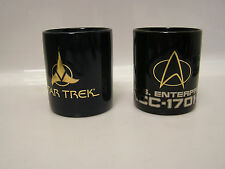 Star Trek Coffee Mug Set of 2 Mugs-Raised Logo- Imported (STMU-FW0203)