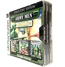 ARMY MEN GOLD COLLECTOR'S EDITION •PS1 PlayStation 1• 3D, Air Attack, Sarge's