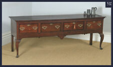 Antique English 18th Century Georgian Oak Four Drawer Dresser Base Sideboard