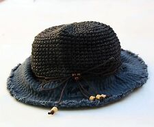 REPLAY Ladies Hat Texitile Paper Knit Hat Beanie Navy Blue M NICE!!
