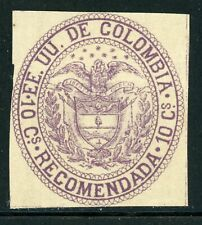 Colombia MNG Back of Book Selections: Scott #F7 10c Violet Arms (1881) CV$60+