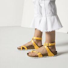 Birkenstock Yara Zehentrenner normal graceful amber yellow gelb Sandalen 1008844