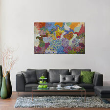 ABORIGINAL ART PAINTING by ABIE LOY KEMARRE BUSH LEAF DREAMING Authentic artwork
