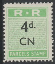 Rhodesia (655) 1951 RAILWAY PARCEL STAMP 4d opt'd CN for Chingola u/m
