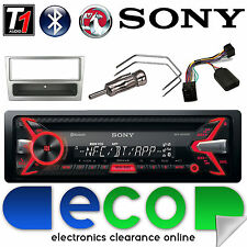 Vauxhall Corsa C Sony CD MP3 USB Bluetooth Car Stereo Silver Fascia Steering Kit