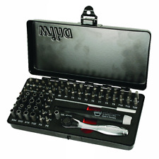 Wiha 75965 Master Tech Micro Bits Set w/ Handle & MIni Ratchet, 65 pieces
