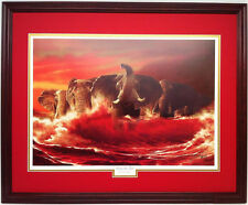 "Alabama Football Comes the Tide 24"" x 30"" print framed"