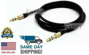 3.5mm Male to Male Aux Cable Cord Car Audio PC iPhone Headphone Jack Black 4FT