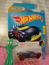GROWLER #257✰blue/yellow;5sp red✰STREET BEASTS✰2017 i Hot Wheels case L/M