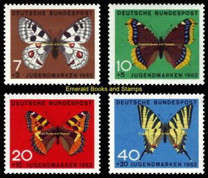 EBS Germany 1962 - For Youth - Jugend - Butterflies - Michel 376-379 MNH**