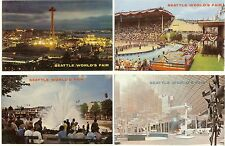 Seattle World's Fair 1962 postcards - lot of 4 - all unused - Mike Roberts