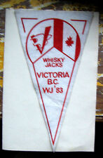 RARE Boy Scout World Jamboree WJ  Banner / Pennant  - Whisky Jacks-Victoria, BC