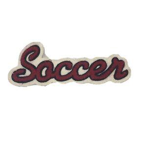Varsity jacket patch high school soccer patch red black white chenille