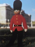 """Vintage Hand Knitting Pattern For A Toy Soldier 49cm/19.25""""Tall Double Knit Wool"""