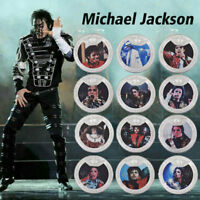 WR 12PCS Michael Jackson SILVER Commemorative Coin Set King Of Pop Music Capsule
