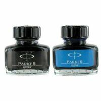 Parker Quink Fountain Pen Ink Bottle, 30ml, Blue & Black Ink, combo