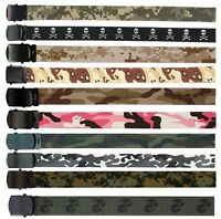 Men & Women's Camouflage Military Web Belts 100% Cotton Rothco Web Belts