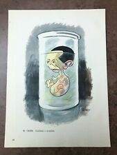 More details for original 1944 ww2 double sided print ! w.trier - goebbels in spirits