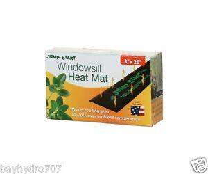 "HydroFarm Seedling Heat Mat 3"" x 20"" WindowSill Size SAVE $$ W/ BAY HYDRO $$"