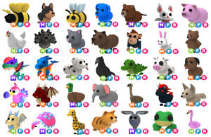 Adopt me Pets Mega Neon Fly Ride Eggs Royal Pet Fossil Cheap