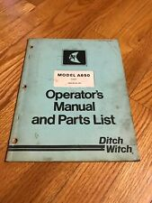 Original Genuine Ditch Witch A650 Operators Manual Parts Catalog