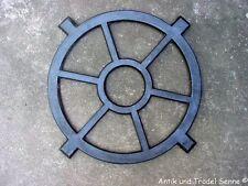 Gussfenster schwarz rundes Stallfenster 48 cm Fe1004s