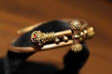 Ceremonial Victorian Edwardian Etruscan Gold Filled Wedding Bangle Bracelet