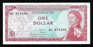 East Caribbean States - One Dollar Note (1965) P13a - AU
