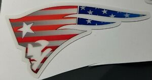 New England Patriots Full Size football helmet decals set  Flag Design