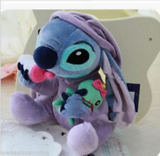 LILO and STITCH in Pajamas Holding Scrump Milk Bottle Plush Doll Soft Doll