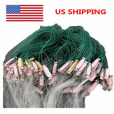 New 25m 3 Layers Monofilament Fishing Fish Gill Net with Float Durable US