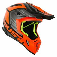 Just1 J38 MX Helmet Orange Black Gloss Motocross ATV Off Road ACU Gold XS-L