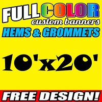 10' x 20' FT Custom Banner HEAVY duty Vinyl/Flex Outdoor premium Advertise Signs