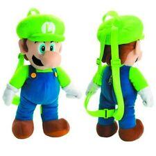 Super Mario Bros Brothers Luigi Plush Backpack Stuffed Animal Toy Kids Boys Gift