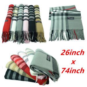 Tartan Plaid Oversized Unisex 100% CASHMERE Warm Check Scarf Wool Scotland
