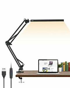 LED Desk Lamp,ELEKIN Metal Swing Arm Lamp, Reading Light Eye-Care Table Light,