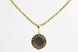 """Bvlgari 15"""" 18k Yellow Gold Chain Necklace with Pendant (30.9g)"""