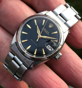 Vintage Rolex Oyster Date Precision 6466 Gilt Dial From 1963 #30mm