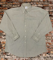 Brooks Brothers Men's Size L Tan Plaid Button Down Long Sleeve Casual Shirt #12C