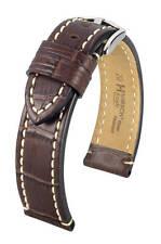 Hirsch Knight 20 mm brown watch strap, L