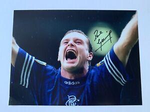 Paul 'GAZZA' Gascoigne- Glasgow Rangers… Hand Signed Photo 16X12 Bid From £19.99