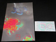 Yes 1992 Tour Book for Japan with Ticket Stub & Flyer Jon Anderson Steve Howe