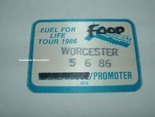 Judas Priest Concert Backstage Pass Worcester 1986 Fuel For Life Tour Satin Otto