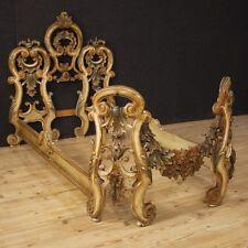 Letto veneziano singolo mobile in legno laccato stile barocco antico arte 900 XX