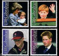 Prince Harry 18th Birthday set of 4 mnh stamps 2002 Gibraltar #913-6