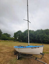 Enterprise sailing dinghy , Combo Road trailer, with standard and storm sails