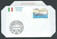 1991 ITALIA AEROGRAMMA AEREO PRIMO VOLO A REAZIONE - ED
