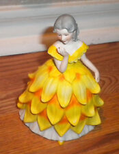 Flower Maidens of the Year Dolores Lady Chrysantemum Yellow Figurine Bisque '82